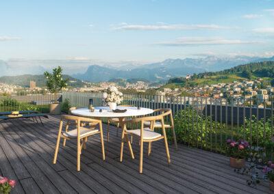 KUBIK – 38 Eigentumswohnungen am Sonnenberg in Kriens, Sommer 2023